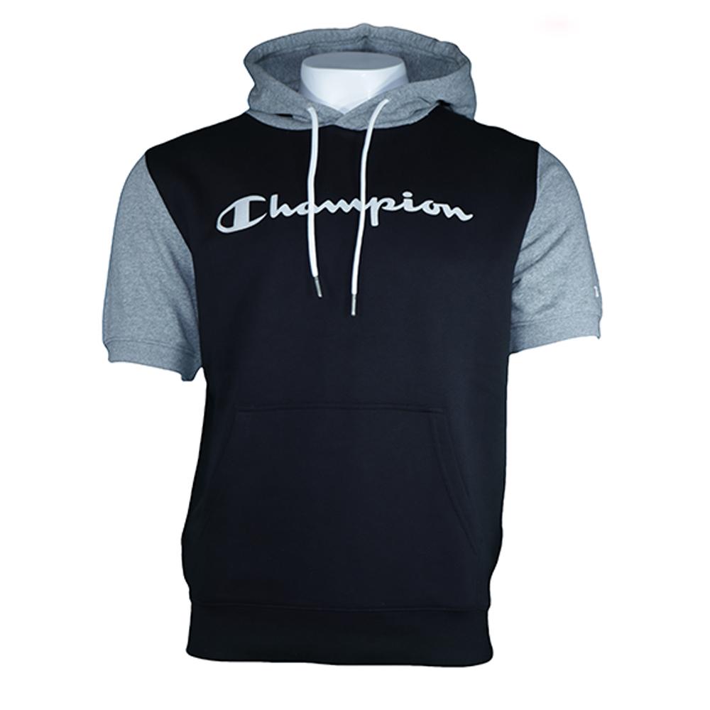 Hooded Shortsleeve Logo Sweatshirt