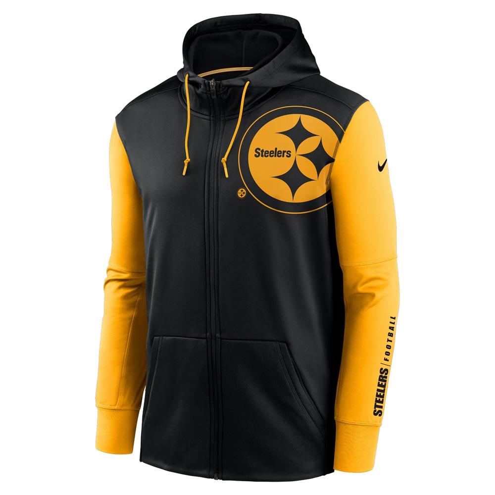Left Chest Mascot Full-Zip Therma Hoody Pittsburgh Steelers