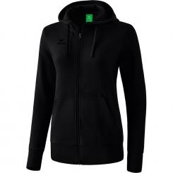 Basic Kapuzensweatjacke Damen