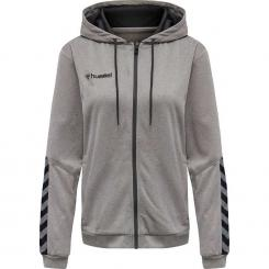 Authentic Poly Zip Hoody Damen