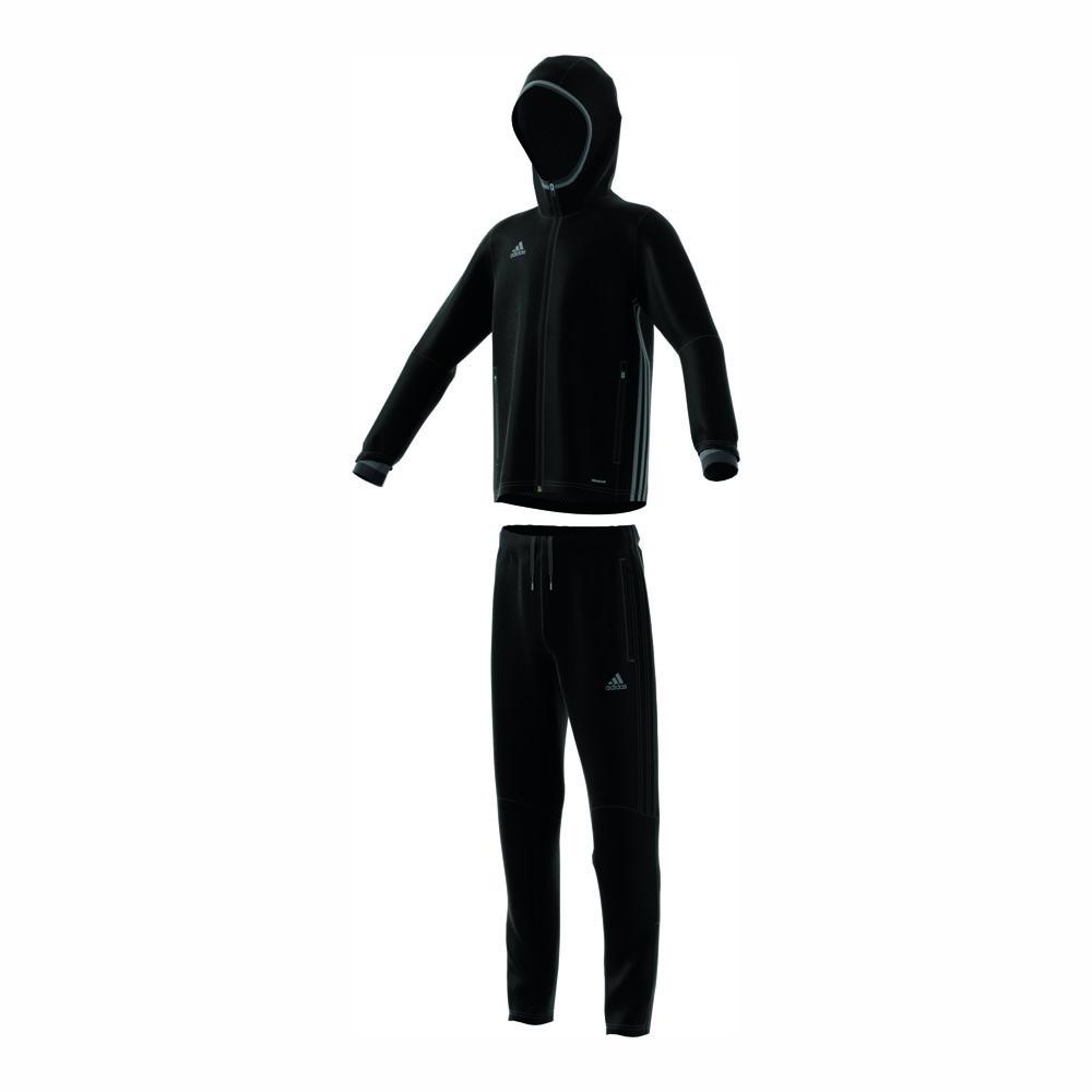 adidas anzug condivo 16 pr sentationsanzug junior schwarz. Black Bedroom Furniture Sets. Home Design Ideas