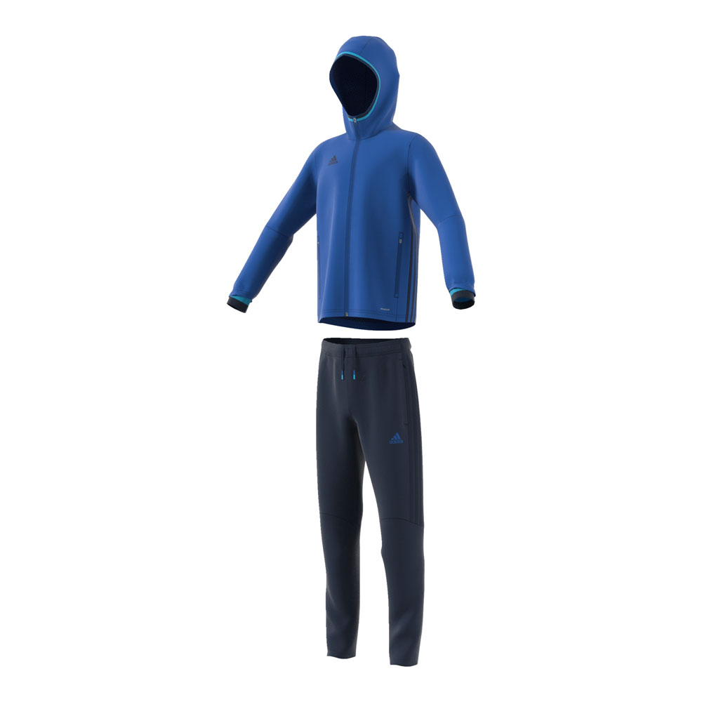 adidas anzug condivo 16 pr sentationsanzug junior blau. Black Bedroom Furniture Sets. Home Design Ideas