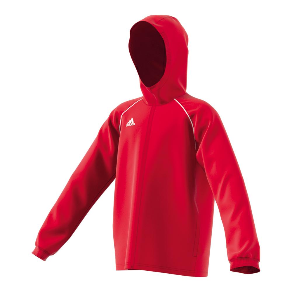 adidas Kinder Core 18 Regenjacke rot, Größe:152  