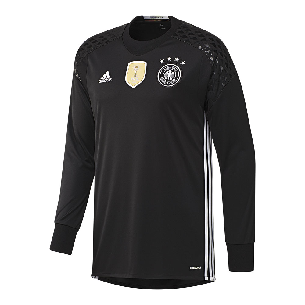 adidas trikot dfb heim torwarttrikot 2016 schwarz herren. Black Bedroom Furniture Sets. Home Design Ideas