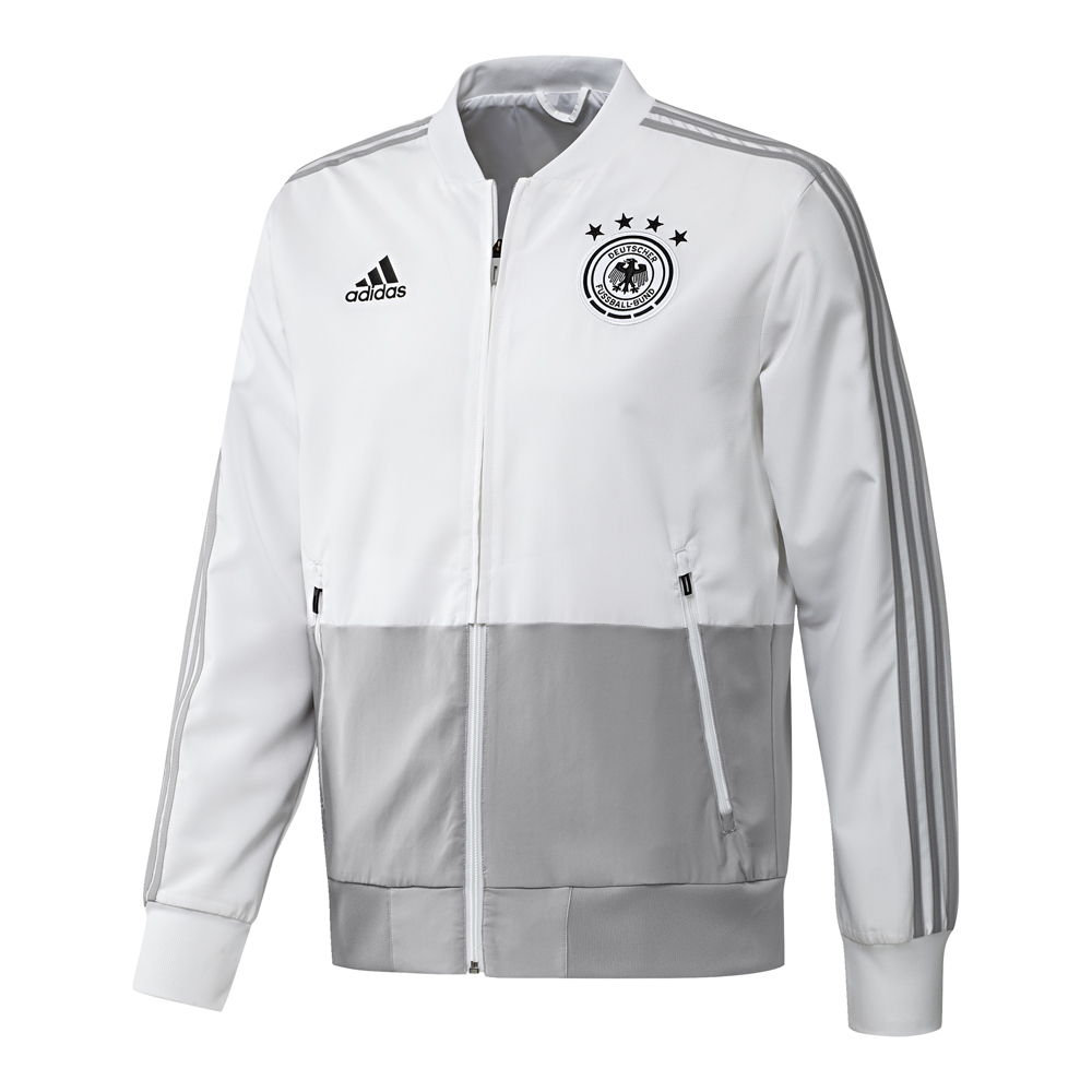 adidas jacke dfb pr sentationsjacke 2018 weiss herren. Black Bedroom Furniture Sets. Home Design Ideas