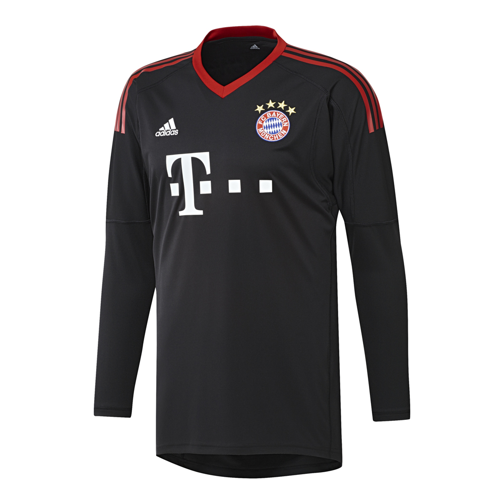 adidas fc bayern m nchen torwarttrikot 2017 2018 schwarz. Black Bedroom Furniture Sets. Home Design Ideas