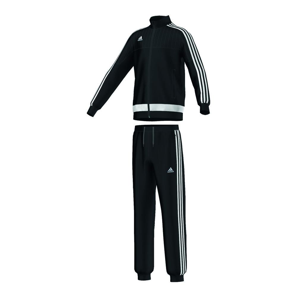 adidas anzug polyesteranzug tiro 15 junior schwarz kinder. Black Bedroom Furniture Sets. Home Design Ideas