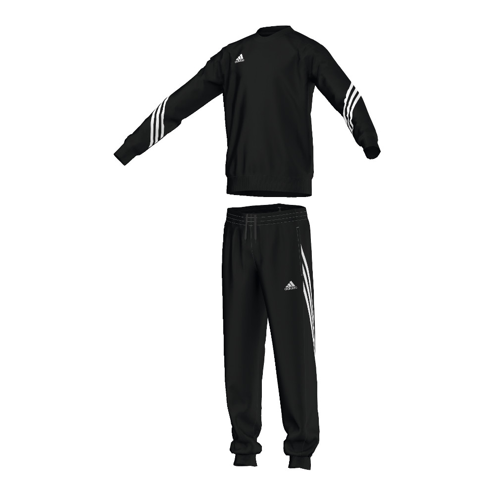 adidas anzug sereno 14 sweatanzug junior schwarz kinder. Black Bedroom Furniture Sets. Home Design Ideas