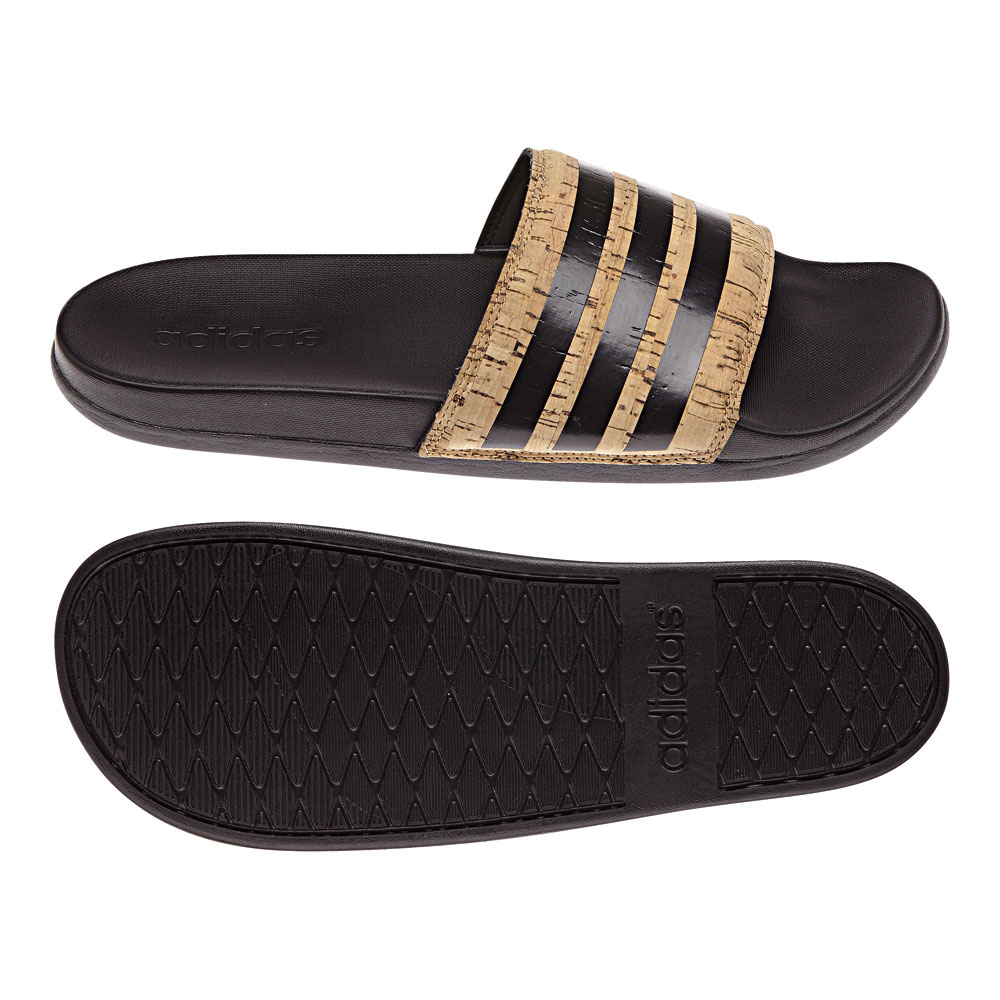 adidas badelatschen adilette cf cork schwarz herren. Black Bedroom Furniture Sets. Home Design Ideas