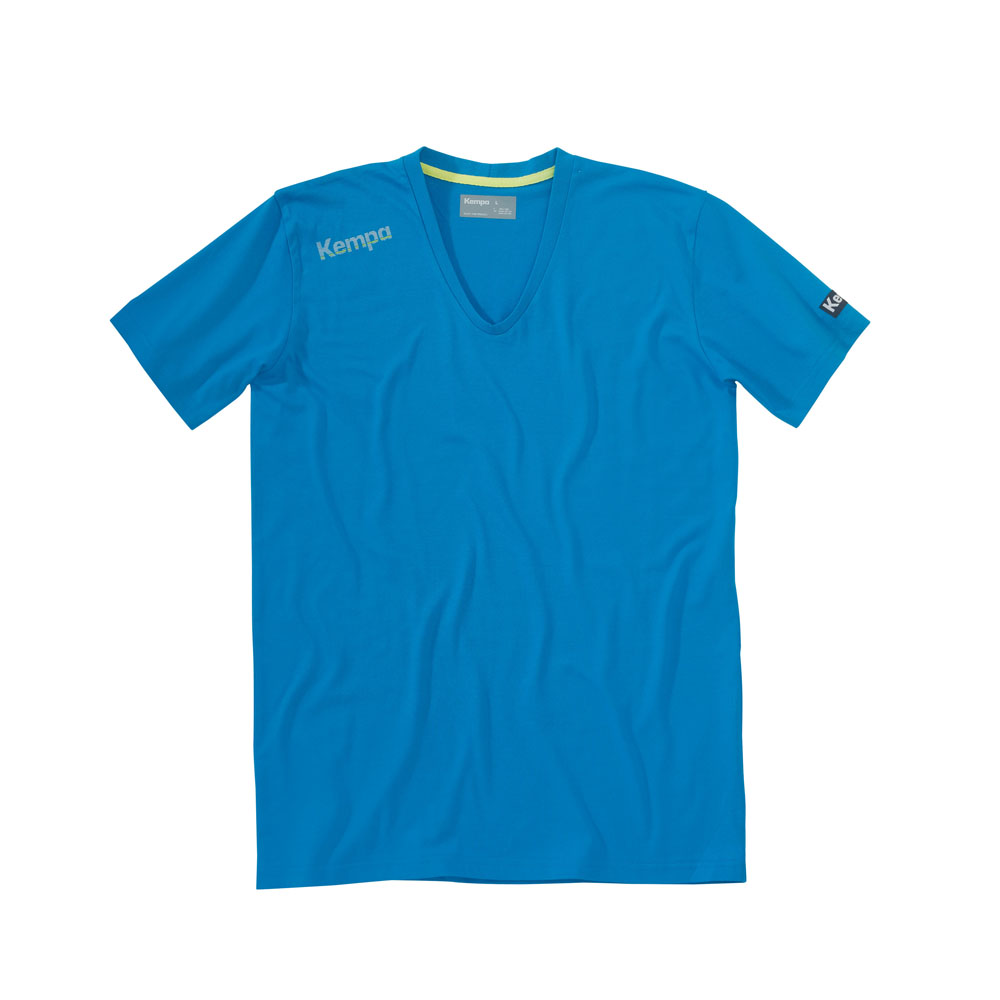 Teamsport Philipp   Kempa Core Baumwoll T-Shirt V-Kragen Herren ... 2ab9528b86