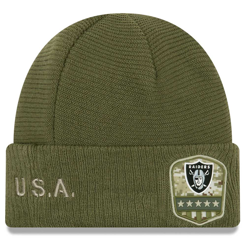 Oakland Raiders New Era Salute to Service Wintermütze