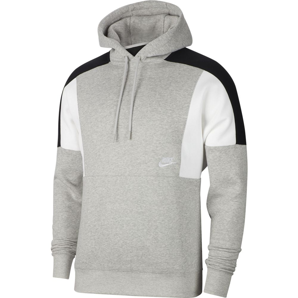 nike hooded sweatshirt sportswear white white black