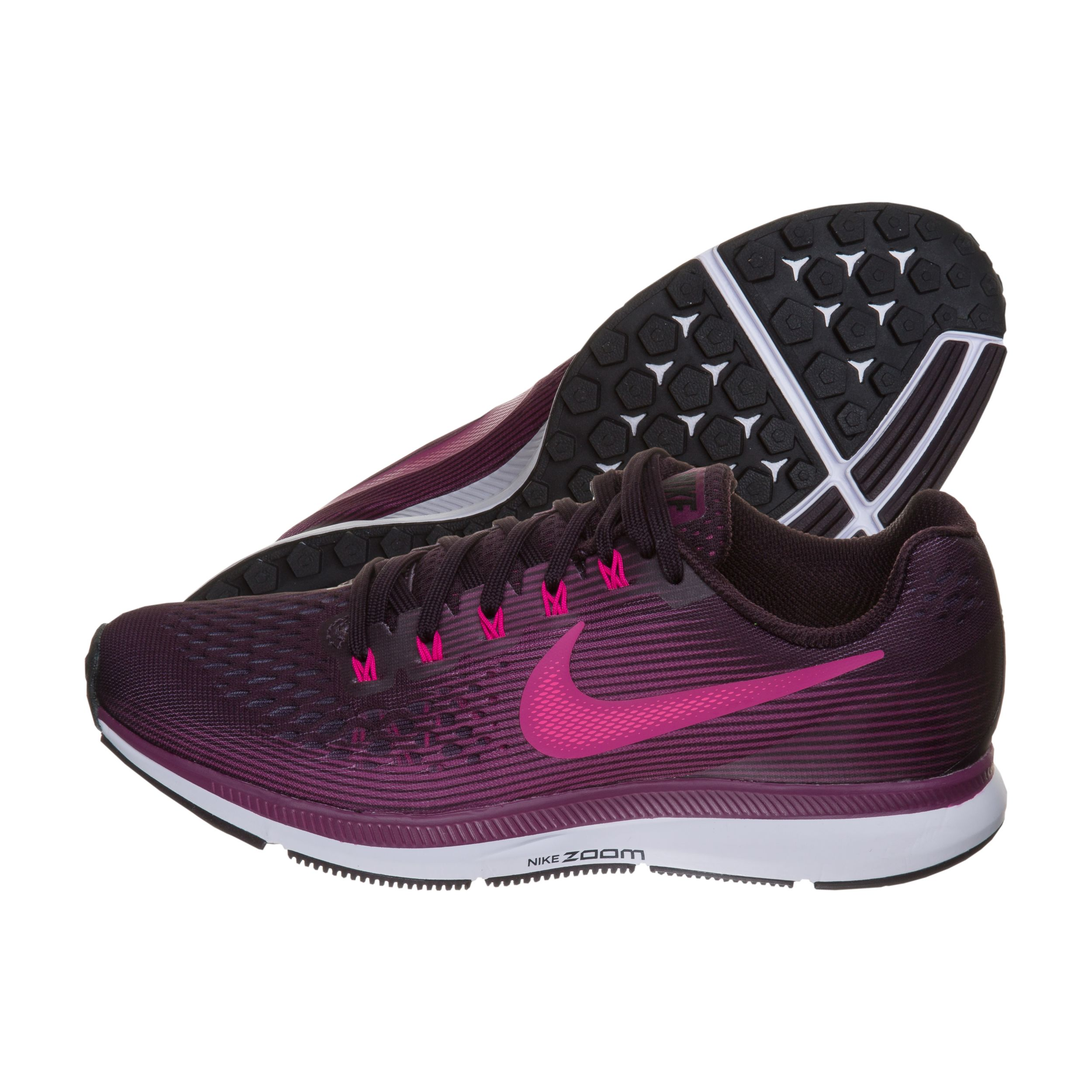 79d229531da4 ... Pink Women s Nike Air Zoom Pegasus 34 Running Shoes Purple (Port Wine  Tea Berry Black WMNS Air Zoom Pegasus 34.