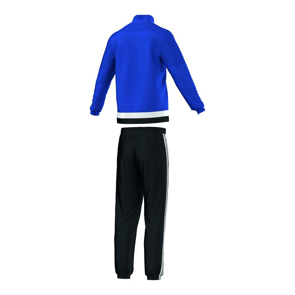 adidas anzug pr sentationsanzug tiro 15 blau schwarz. Black Bedroom Furniture Sets. Home Design Ideas